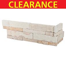 Clearance! French Crema Limestone Corner Panel Ledger