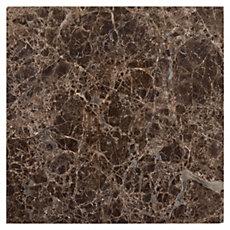 Dark Emperador Polished Marble Wall Tile