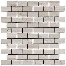 Valentino White Brick Marble Mosaic