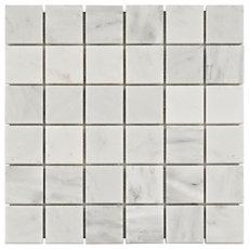 Carrara White Marble Mosaic