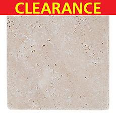 Clearance! Ivory Tumbled Travertine Tile