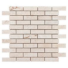 Cote D Azur Brushed Brick Travertine Mosaic