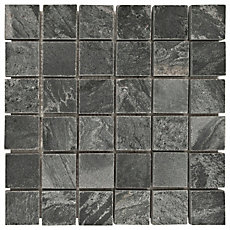 Silver Gray Slate Mosaic 12in X Floor And Decor