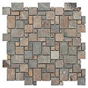 Multicolor Pattern Mosaic Slate Tile Floor amp Decor