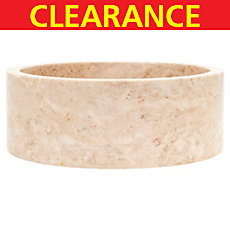 Clearance! Cappuccino Round Polished Marble Sink