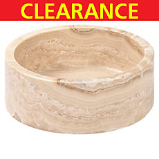 Clearance! Honey Onyx Round Polished Marble Sink